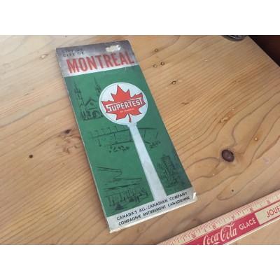 Carte routière ancienne de Montréal