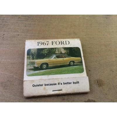 Carton d'allumette Ford 1967